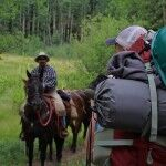 Wranglers gathering our group gear and equipment